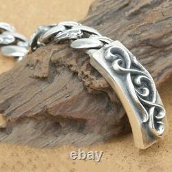 Huge Heavy Real 925 Sterling Silver Bracelet Twist Braided Vintage Grain Link