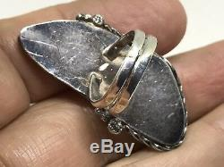 Huge Old Pawn Men's Vintage Navajo Royston Turquoise Sterling Silver Ring (s 8)