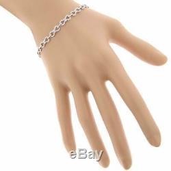 Infinity Bracelet Women's 14k White Gold Over 7Ct Round Cut VVS1 Diamond 7.25