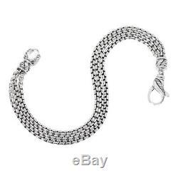 JAI John Hardy 19.4g Sterling Silver Triple Strand Box Chain Bracelet QVC $188