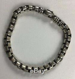 James Avery Sterling Silver 925 Heavy Venetian Box Link Mens Bracelet Rare 45g