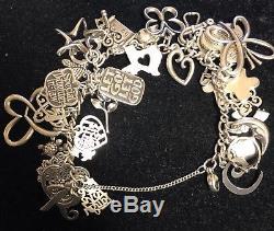 James Avery Sterling Silver Charm Bracelet 36 CHARMS