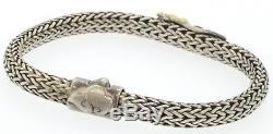 John Hardy 18K gold/Sterling silver woven dragon bracelet
