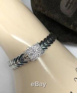 John Hardy. 925 Sterling Silver Modern Chain DIAMOND Clasp Bracelet $995.00 6