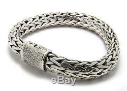John Hardy Diamond Classic Bracelet, Sterling Silver
