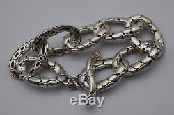 John Hardy Kali Sterling Silver Pebble Link Toggle Bracelet Small