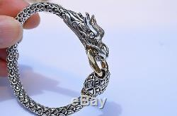 John Hardy Naga 18K & Sterling Silver Naga Dragon Bracelet 7