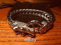 John Hardy Naga Dragon Head Extra Large Chain Bracelet