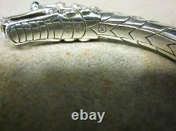 John Hardy Sterling Silver Naga 11.5mm Kick Cuff Blue Sapphire Bracelet New(150)