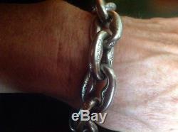 KONSTANTINO 160+ Grams Unisex. 950 Solid Sterling Silver Bracelet Vintage