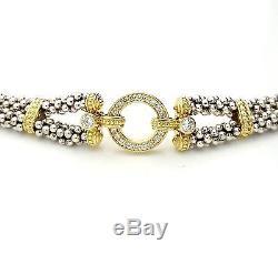 LAGOS Caviar Circle Game Bracelet Diamond Sterling Silver & 18K Yellow Gold