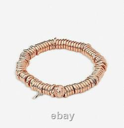 LINKS OF LONDON Sweetie Core 18kt Rose Gold Vermeil Bracelet M RRP290 NEW