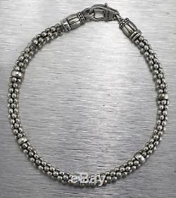 Ladies Authentic Lagos Signature Caviar 925 Sterling Silver Beaded Bracelet