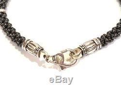 Lagos Black Caviar Beaded Bracelet with Sterling Silver
