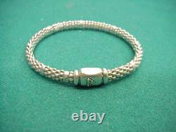 Lagos Caviar 925 sterling silver bead springy nice clasp bracelet preown