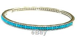 Lagos Sterling Silver Caviar Icon Turquoise Bangle Bracelet
