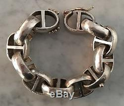 Laurence De Vries. 975 Sterling Silver Bracelet with18kt Massive Anchor Link