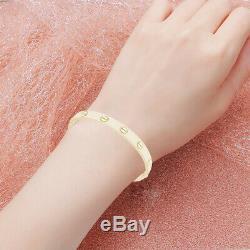 Love Bangle Bracelet in 18k Gold Over Yellow