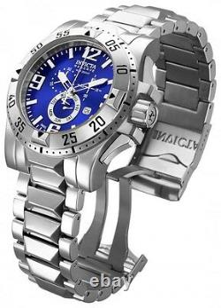 MEN'S InvictA 15308 Excursion Swiss made Diver 200 M BLUE DIAL 50MM NEW