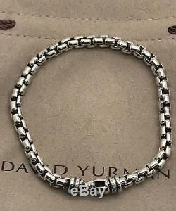 Men's David Yurman 925 Sterling Silver Box Chain 5mm Bracelet 8