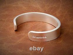 Men's Gents Solid 925 Silver X Heavy Vintage Matt Look Torque Bangle Bracelet