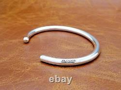Men's Gents Solid 925 Sterling Silver Open Torque Bangle Bracelet Handmade