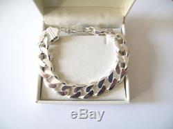 Men's Solid 925 Sterling Silver Cuban Curb Link 8.5 82 Grams Heavy Bracelet