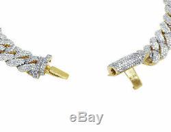 Mens 14K Yellow Gold Over 20.00 Ct Diamond Miami Cuban Link Bracelet 8