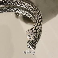 Mens Heavy 925 Sterling Silver Open Torc Torque Cuff Bangle Bracelet