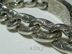 Mens Heavy Konstantino 950 Sterling Silver 18k Gold Pegasus Horse ID Bracelet