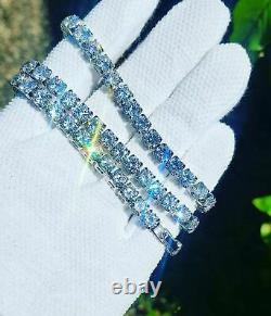 Mens Ladies Round Diamond Tennis Bracelet 4mm 14k White Gold Over 7.25 Inch 9Ct