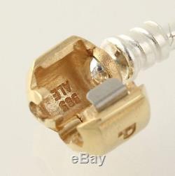 NEW Pandora Charm Bracelet Sterling Silver 14k Gold Clasp 590702HG-17 ALE 6.7