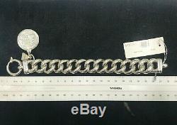 NEW Von Treskow Bracelet Big Mama Sterling Silver Curb Link Florin Coin VTB335