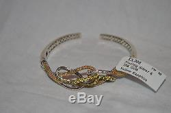 NWT LAGOS 18K Gold & Sterling Silver Yellow Sapphire. 3ctw Bracelet MSRP $3300