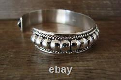 Navajo Indian Jewelry Sterling Silver Bracelet by Thomas Charley