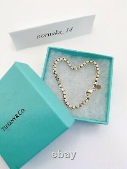 Near MINT Tiffany & Co. Venetian Link Bracelet Sterling Silver 925 with BOX