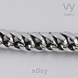 New Big Men's Biker Heavy Wide Bracelet Solid 925 Sterling Silver Size 25 cm 10