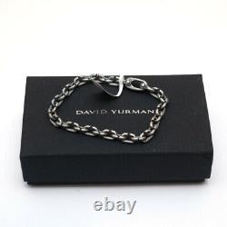 New DAVID YURMAN Men's 6mm Shipwreck Chain Link Bracelet Silver Medium