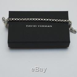 New DAVID YURMAN Men's Large Sterling Silver Box Chain Bracelet 9 NWT