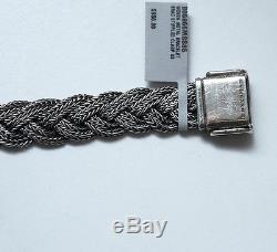 New DAVID YURMAN Men's Woven Metal Bracelet, Sterling Silver, Medium NWT