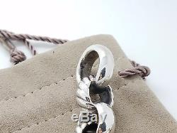 New David Yurman Cable Sterling Silver Large Round Chain Link Toggle 8' Bracelet