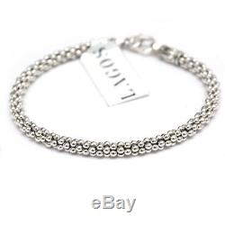 New LAGOS Caviar Sterling Silver 4mm Rope Bracelet 7.4 NWT