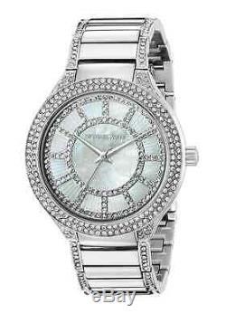 New Michael Kors Kerry Silver Pearl Crystal Stainless Steel MK3311 Ladies Watch