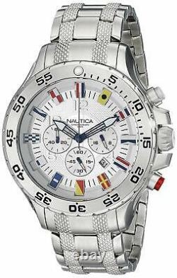 New Nautica Men's N20503G NST Stainless Steel Watch