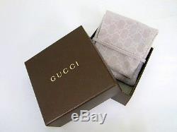 New Original Gucci Womens Sterling Silver Heart Pendant Bracelet YBA223513001018