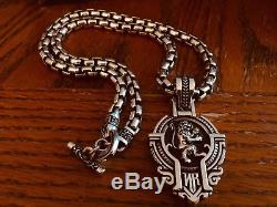 Night Rider Sterling Silver Gaurdian Lion /24 Large 7 mm NR Chain/ DY Bracelet