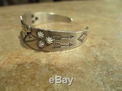 OLD FRED HARVEY Era Navajo BELL Sterling Silver Applied Thunderbird Bracelet