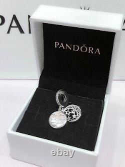 PANDORA Love You to the Moon & Back Pendant + Necklace charm Bracelet 791993CZ
