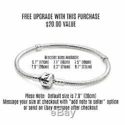 Pandora Silver Bracelet Coach Blue Beach European Charms Pandora Gift Set New