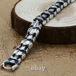 Real 925 Sterling Silver Bracelet Link Chain Whole Dragon